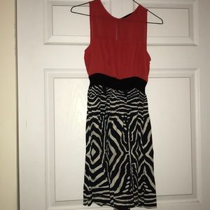 New Red and zebra dress.